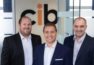 The CIB board. Left to right: Gareth Le Page, Tony De Sousa and Steve Moullin